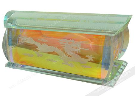 七彩水晶龙棺财 -水晶寿盒-水晶骨灰盒-水晶棺【七彩水晶龙棺材】